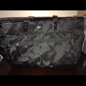 Coach diaper bag with pad NWT